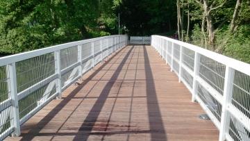 projekt image - Weiße Brücke in der Stadt Rendsburg