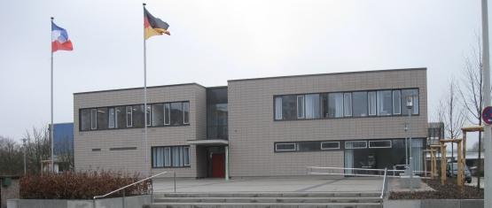 Eingangsbereich Bürgerhaus Multifunktionsgebäude Mettenhof