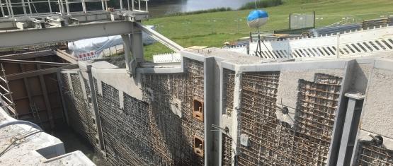 Foto 7 - Sperrwerkswände nach Betonabtrag