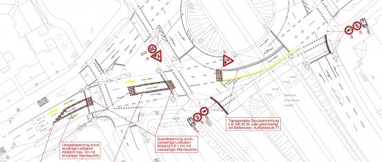 Planung der Absicherung von Arbeitsstellen an Straßen